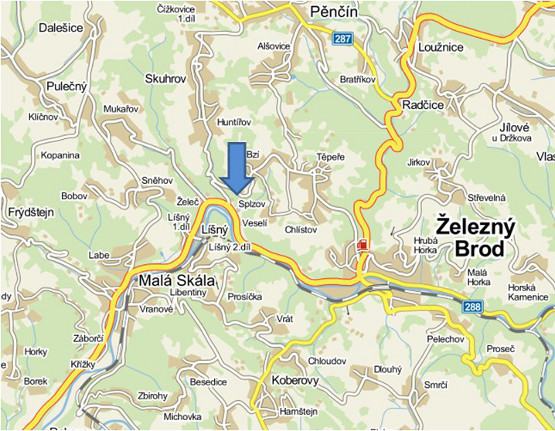 Mapa Formanka Splzov