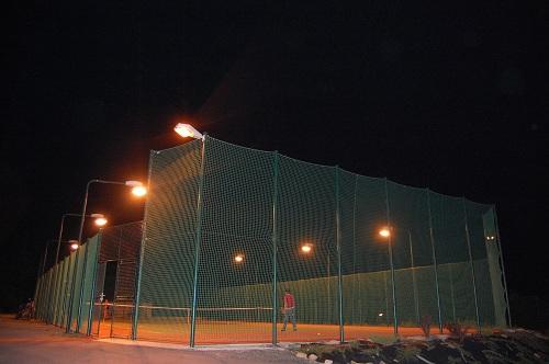 Noční pohled na hřiště tj sokol Dlouhy